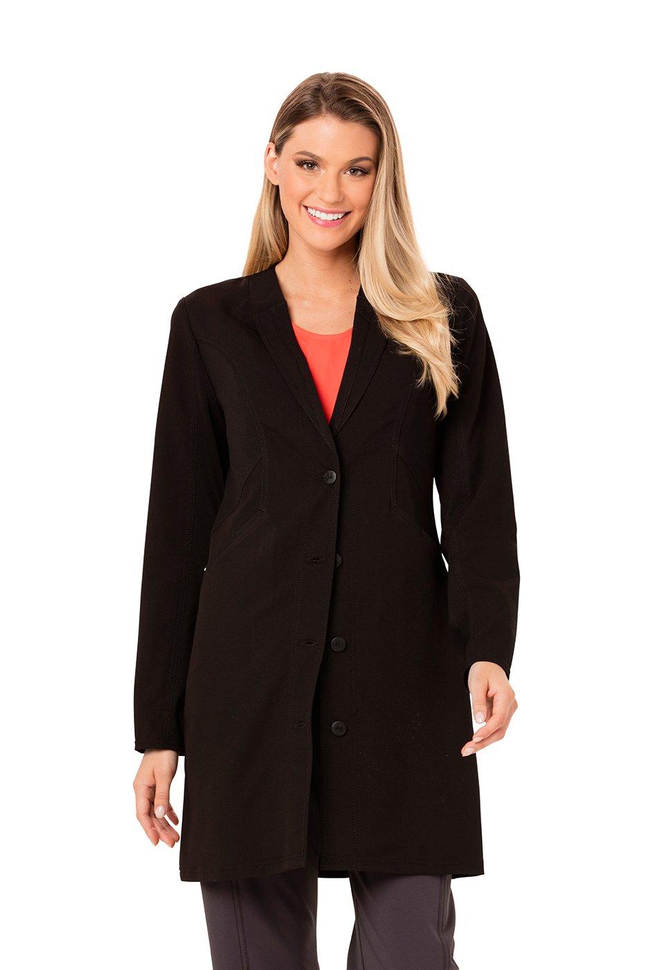 Careisma by Sofia Vergara Women's 33 Lab Coat XXX-Large Black W/Black Contrast