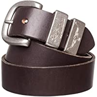 "R. M. Williams 1 1/2"" 3 Piece Solid Hide Belt,"