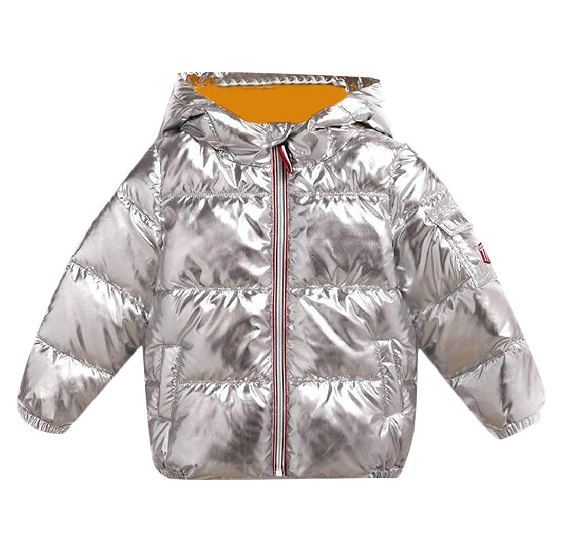 Lutratocro Boys Loose Thicken Quilted Outwear Cute Girl Parkas Coats