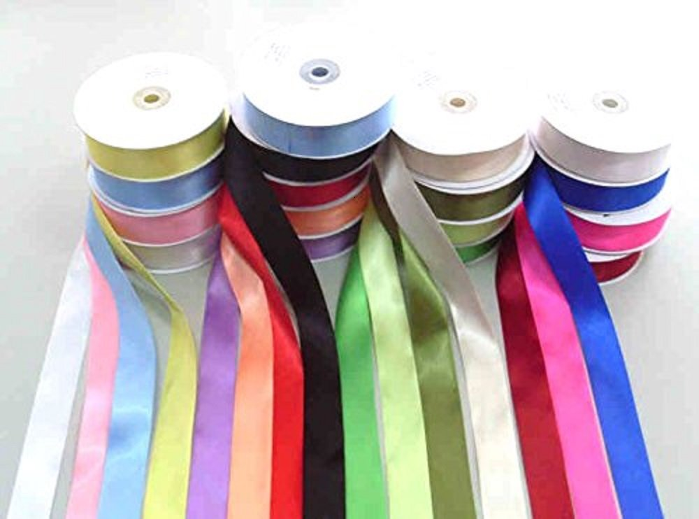 SATIN RIBBON BUNDLE 10 X 2 Mtr Cut lengths 10MM Wide Satin Ribbon- ASSORTED COLOURS - IDEAL FOR CRAFTS/SCRAPBOOKING/GIFTWRAP/WEDDINGS …PLEASE NOTE THESE ARE CUT LENGTHS PACKED INTO GRIPSEAL BAG