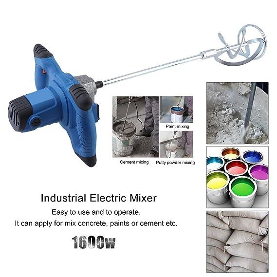 yesper 1600 W Batidora Mortero (mano Agitador farbrührer Hormigonera 930R/min Azul: Amazon.es: Bricolaje y herramientas