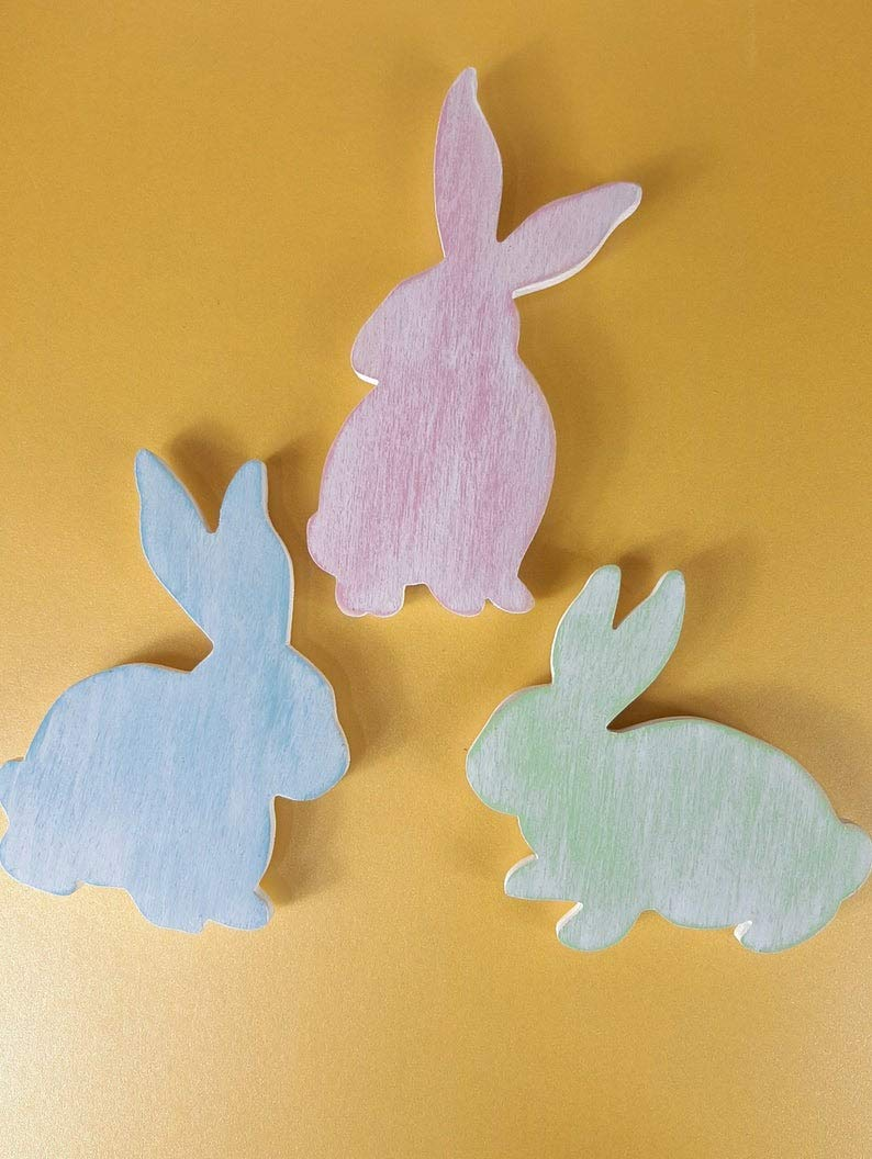 Amazon.com Set of 32 Easter Bunny Magnets Large Pastel Bunny ...