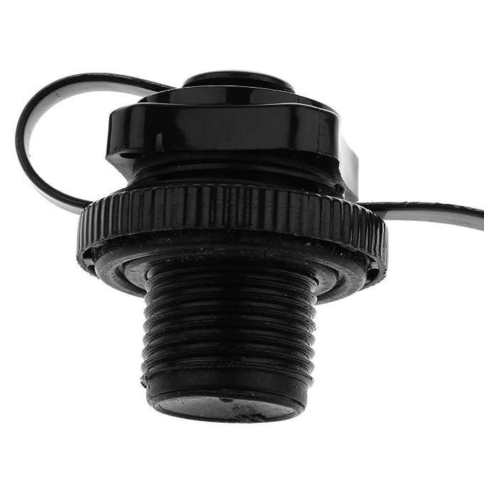Homyl Válvula de Aire de Plàstico Reemplazo de Botes Inflable Diseñado con Casquillo y Rosca de Tornillo - Negro: Amazon.es: Deportes y aire libre