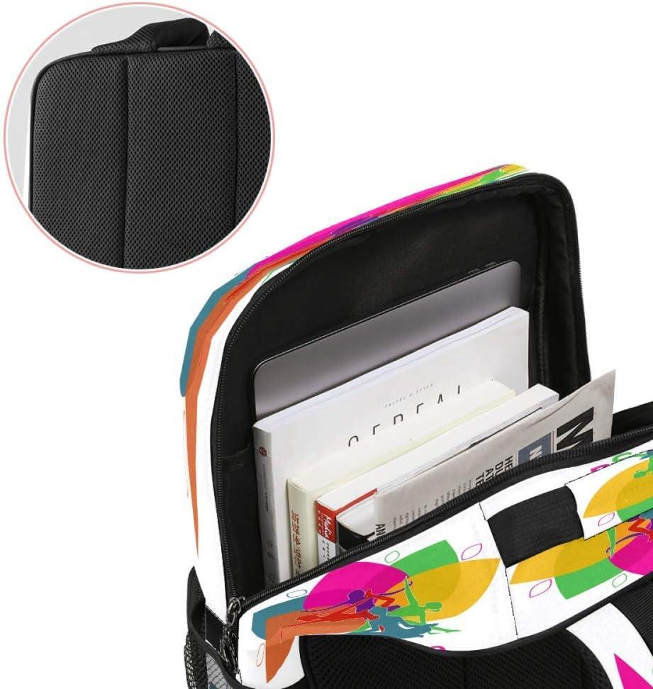 Casual School Backpack Yoga Lotus.JPEG Print Laptop Rucksack Multi-Functional Daypack Book Satchel