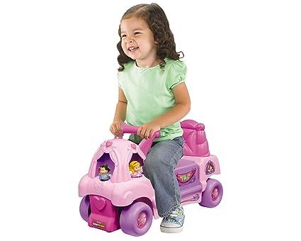 Amazon.com: Fisher Price Princesa Carriage Play Set Ride On ...