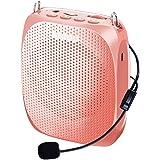 Portable Voice Amplifier SHIDU Personal Speaker Microphone Headset Rechargeable Mini Pa System for Teachers Tour Guides…