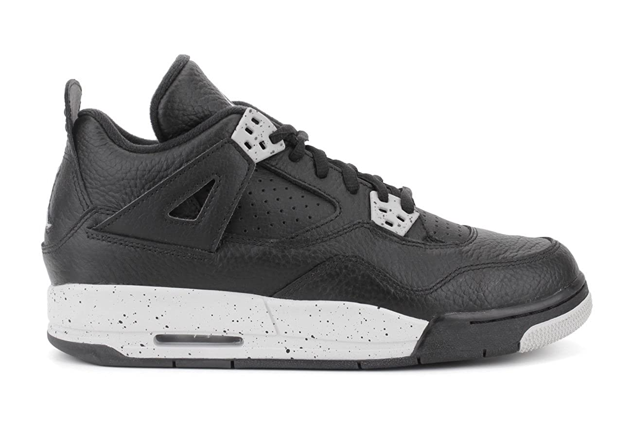 Black tech Grey-black Nike Jordan Kids Air Jordan 4 Retro Bg Basketball shoes