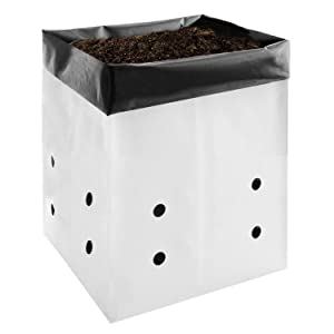 VIVOSUN 50-Pack 5 Gallon Grow Bags for Plants, Black-and-White Material for Potting Up Seedlings and Rooting