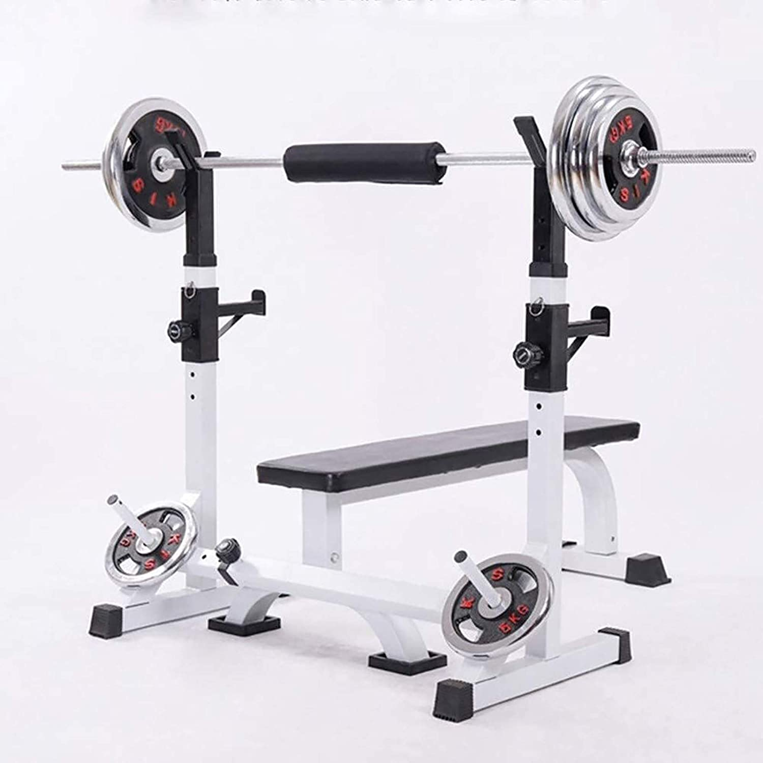 Max Load 260 Kg Adjustable Dumbbell Rack For Home Gym Fitness Weight Lifting PLAYH Barbell Stand Squat Rack Height Adjustment