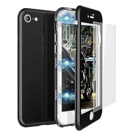 CE-Link Funda iPhone 7 Funda iPhone 8 y Cristal Templado iPhone 7 / iPhone 8 Carcasa Fundas para iPhone 7 / iPhone 8 360 Grados 3 en 1 Magnética ...