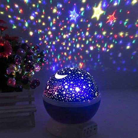 Peachy Nights Constellation Night Light Projector Lamp Offers 4 Bright  Colors With 360 Degree Moon Star Idea