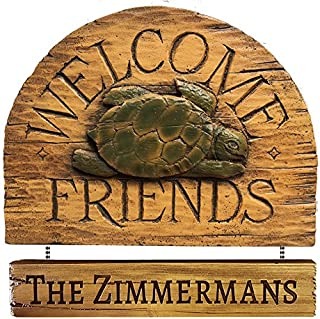 product image for Piazza Pisano Turtle Welcome Personalized Sign