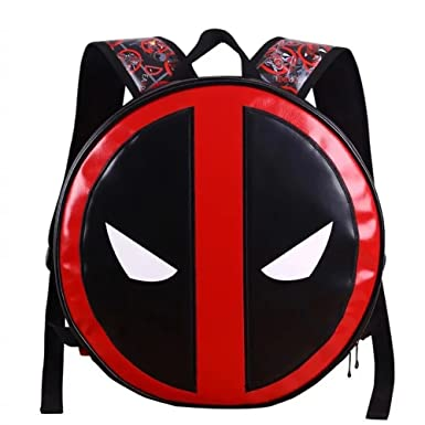 4f8cf6dd9547 Yanglovele Deadpool Iron Man Mens Unisex Student Backpack Book School Bag (Deadpool  Large)