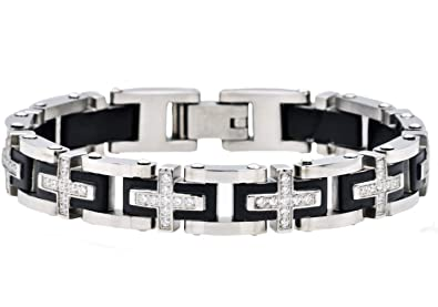 Amazon.com: Blackjack Joyería Pulsera de acero inoxidable ...