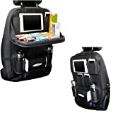 TOCGAMT Car Backseat Organizer with Table Tray for Baby Kids ( Black )