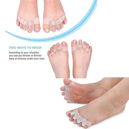 Separador y extensor de los dedos del pie de gel ToePal contra los juanetes, dedos