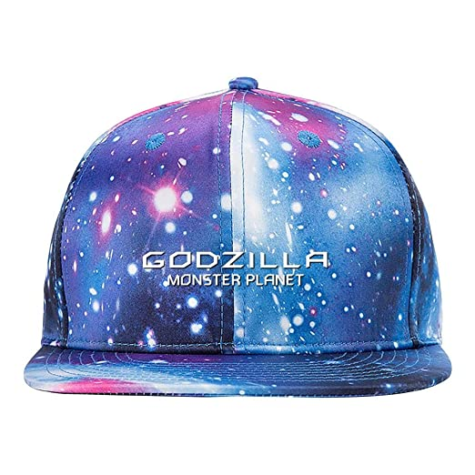 d1455e371 Godzilla Poster 3D Printing Galaxy Peaked Cap Adjustable Snapback Hat  Baseball Cap for Mens Women and Youth Blue at Amazon Men's Clothing store: