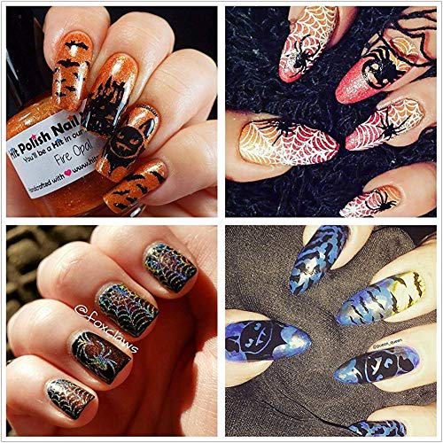 Halloween Nail Art Designs Without Nail Salon Prices: Ejiubas Stamping Plates Halloween Nail Stamping Kits