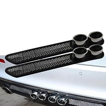 Tubo del tubo de escape falso de la salida de aire de la decoración del coche: Amazon.es: Coche y moto