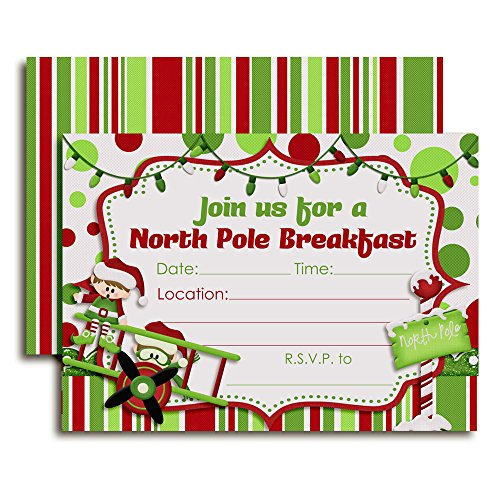 North Pole Breakfast with Elves Party Invitations, 20 5