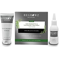 REGROWZ Men's 100% Natural Topical Hair Restoration Treatment for Regrowth, Hair Loss, Thinning, DHT Blocker Clinically…