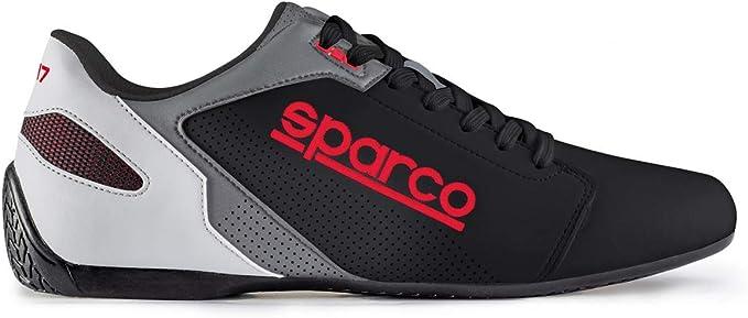 Sparco S00126341BINR Zapatillas SL-17 Talla 41 Blanco Negro