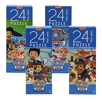 Paw Patrol Puzzle Set - (4) Different Puzzles -24 Pieces Each: Toys & Games