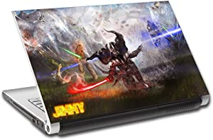 Star Wars Darth Vader Personalized LAPTOP Skin Decal Vinyl Sticker ANY NAME L611, 15.6""