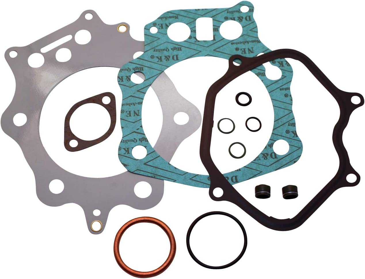 Venom Top End Gasket Kit (Fits/Comparable With Honda) 1998-2004 TRX450S - TRX450ES Foreman 4x4 INCLUDES Multi-Layered Metal Head Gasket & Valve Seals