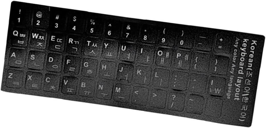 Korean Standard Keyboard Skin Sticker Decoration White Letter Replacement