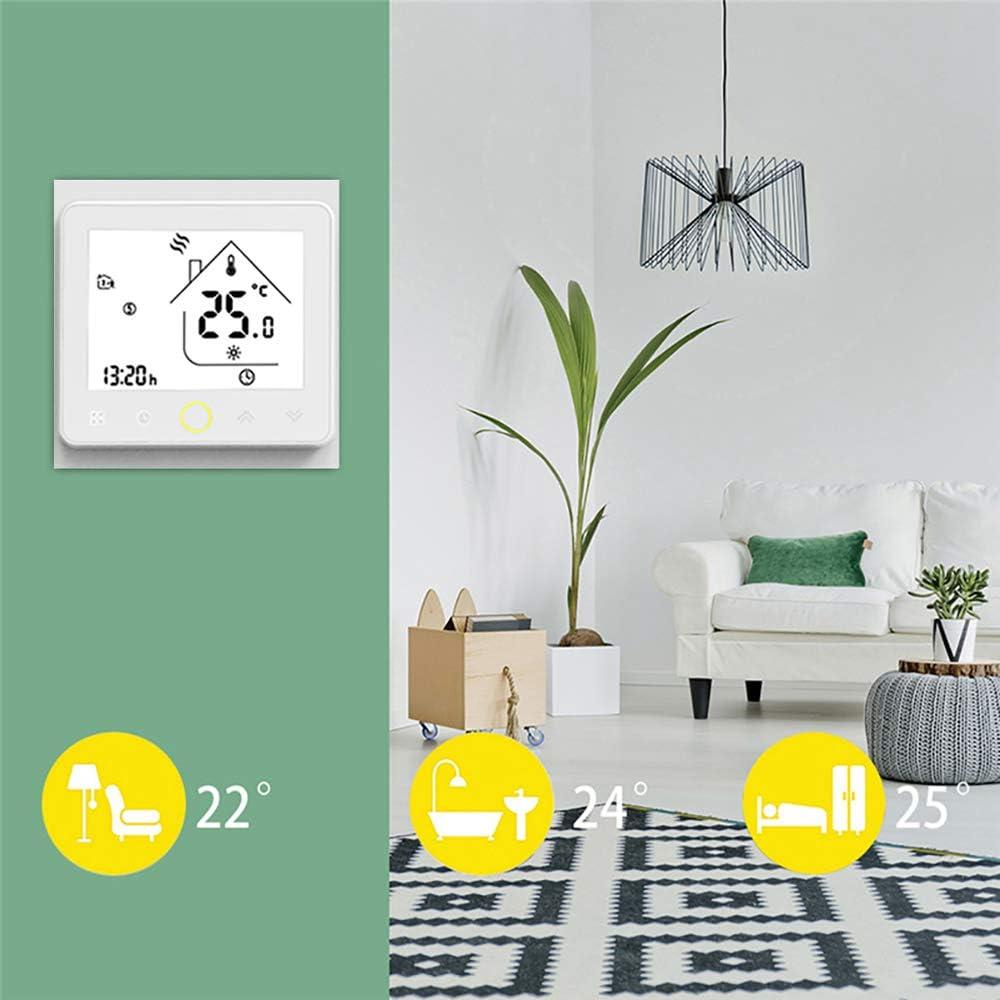 Wi-Fi Smart Thermostat Temperature Controller App Control 5A Compatible con Alexa//Google Home Termostatos de Caldera de Agua//Gas para el hogar