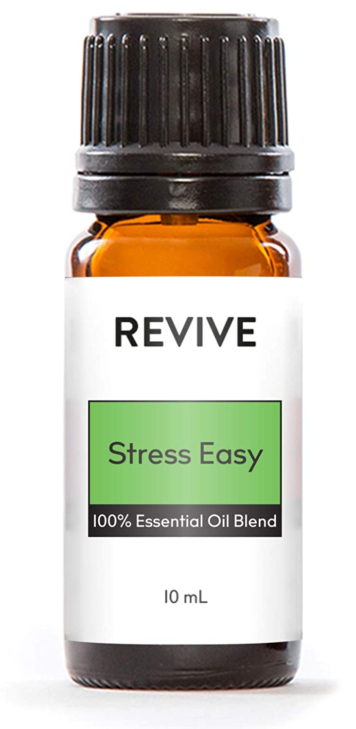 REVIVE Essential Oils - STRESS EASY 10 ml - 100% Pure Therapeutic Grade, For Diffuser, Humidifier, Massage, Aromatherapy, Skin & Hair Care - Unrefined Oils With No Fillers