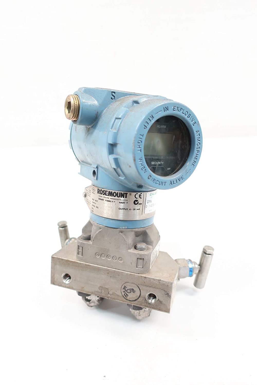 ROSEMOUNT 3051CD2A02A1AS5M5 Pressure Transmitter 0-140IN-H2O 10.5-55V-DC