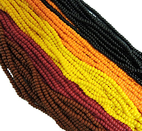 Czech 11/0 Glass Seed Beads - Opaque Fall Mix (5 X 6-string Hanks) Preciosa Jablonex