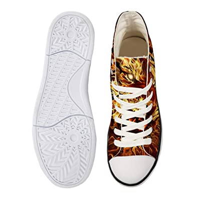 7e22822c6aee3 Amazon.com | Canvas High Top Sneaker Casual Skate Shoe Mens Womens ...