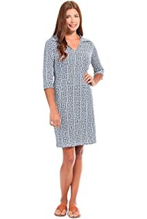 Malabar Bay Womens Greek Key Hamilton Dress