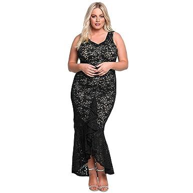 MEI&S Damen Sleeveless Partei formelle Kleidung Große Größe: Amazon ...