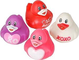 Valentine's Day Love Rubber Duckys - 12 ct