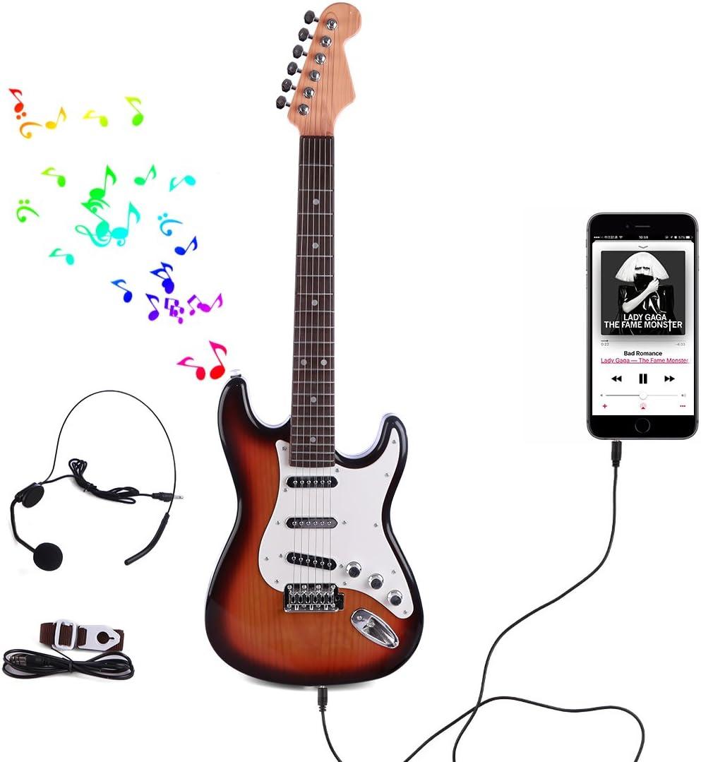 BOROK Kids Guitarra Eléctrica Niños Simulación Música Guitarra ...