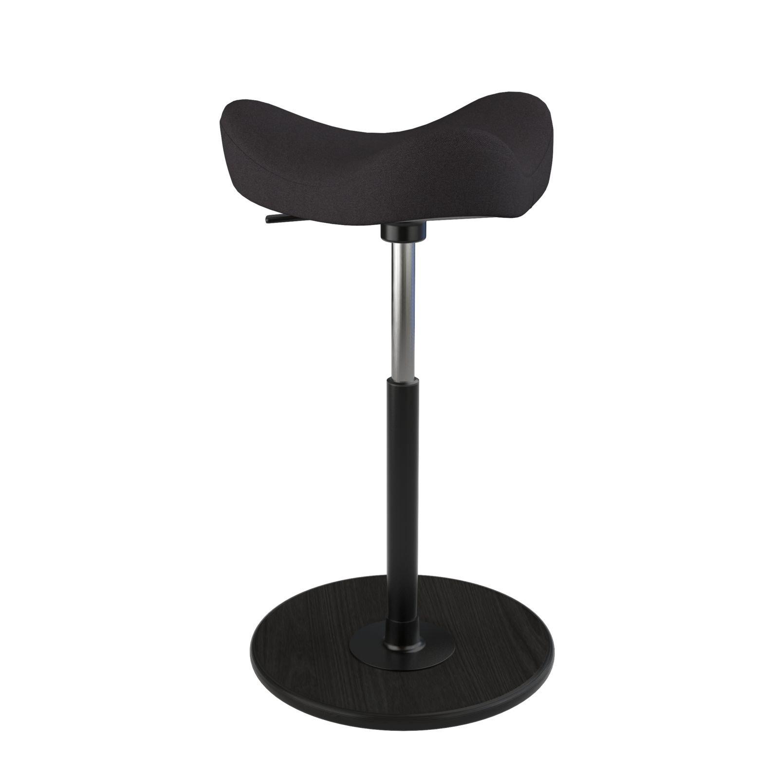 Varier Move Tilting Saddle Stool (Black Revive Fabric with Black Ash Base) by Varier