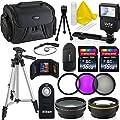 Professional 55MM Accessory Bundle Kit For Nikon D3400 D5600 D3300 AF-P & DSLR Cameras , 15 Nikon Compatible Accessories by Deals Number One