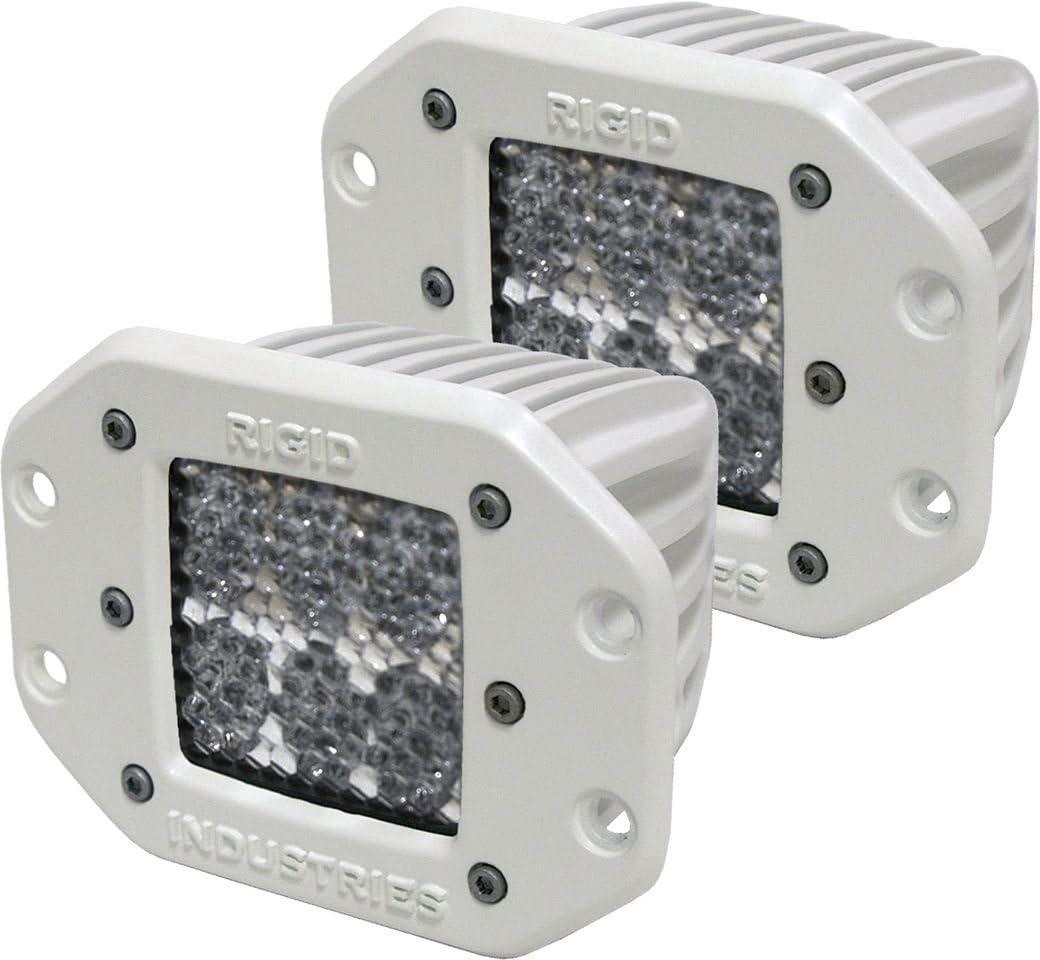 Rigid Industries 71251 M-Series 60/° D2 Lens Flush Mount, Set of 2