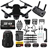 DJI Spark Spartan Kit w/ Backpack, Battery + Thor Charger, Sunshade, Lens Filters, Carbon Fiber Wrap & More