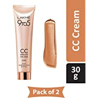 Lakme 9 to 5 Complexion Care CC Cream, Almond, 30g (Pack of 2)