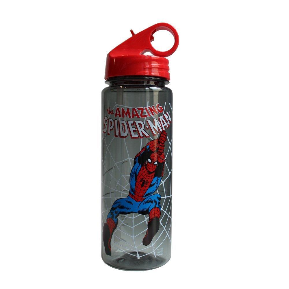 Silver Buffalo MC3264 Marvel Spider-Man Web Slinger Tritan Water Bottle, 20-Ounces