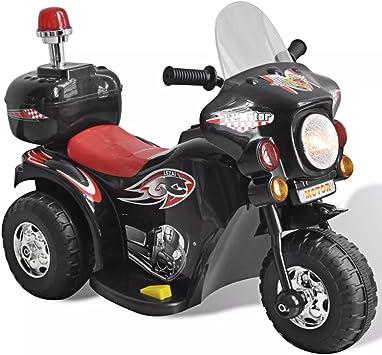 vidaXL Moto Correpasillos a Batería para Niños Negra Bicicleta ...