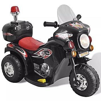 vidaXL Moto Correpasillos a Batería para Niños Negra Bicicleta Moto de Juguete: Amazon.es: Juguetes y juegos