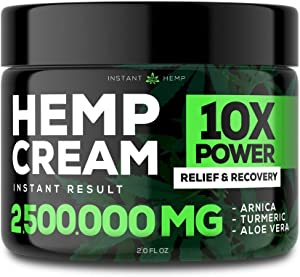 Instant H?mp ??in R?li?f Cream - Relieve Muscle, Joint & Arthritis ??in - Natural H?mp Extract for Arthritis, Foot & Back ??in - 2oz