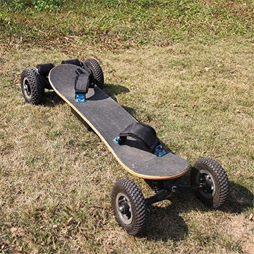 Nfudishpu Off Road Skateboard électrique motorisé Longboard de Montagne avec Double Moteur Tout-Terrain, 4 Roues, Carte Haute Vitesse télécommandée
