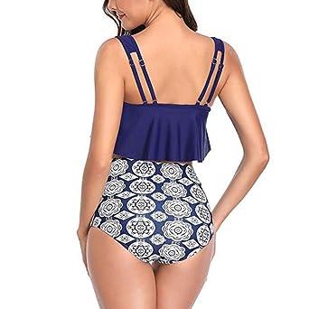 URIBAKY Traje de Baño Mujer 2019, Push Up Bikini Conjunto Bañador de Cintura Alta, Ropa de Baño para Playa: Amazon.es: Ropa y accesorios
